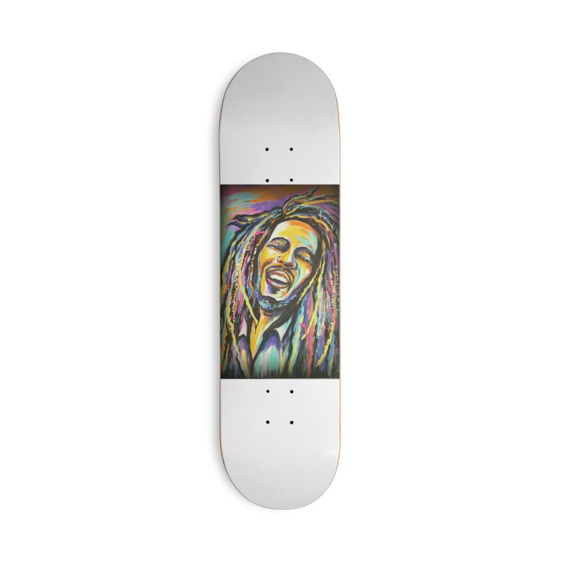 Bob Marley Accessories Deck Only Skateboard by amybelonio's Artist Shop