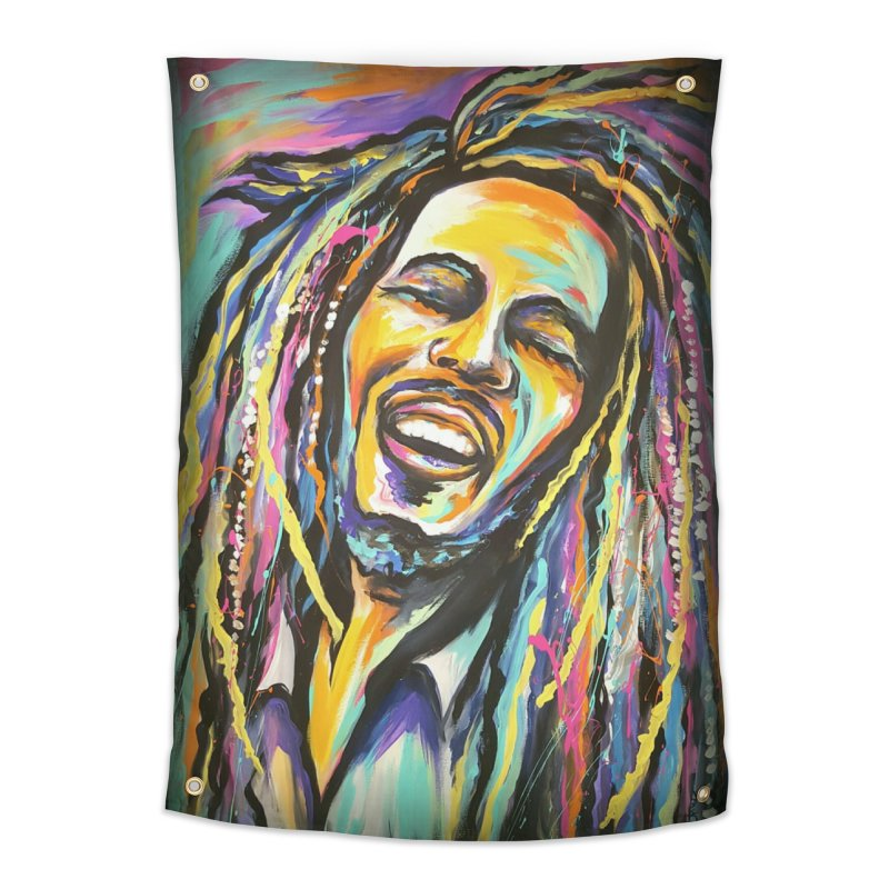 Bob Marley Home Tapestry by amybelonio's Artist Shop