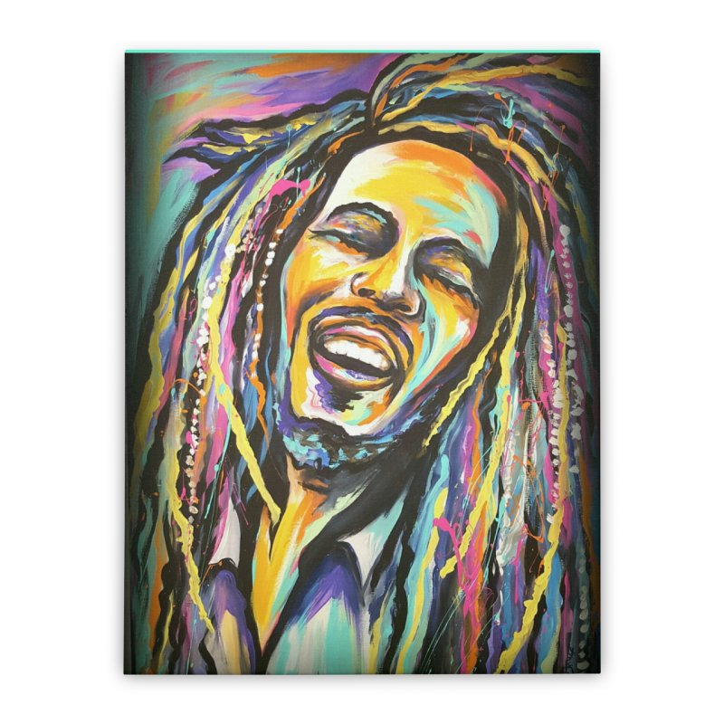 Bob Marley Home Stretched Canvas by amybelonio's Artist Shop