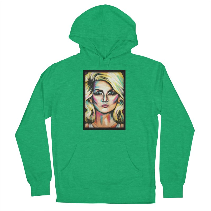 Blondie Women's French Terry Pullover Hoody by amybelonio's Artist Shop