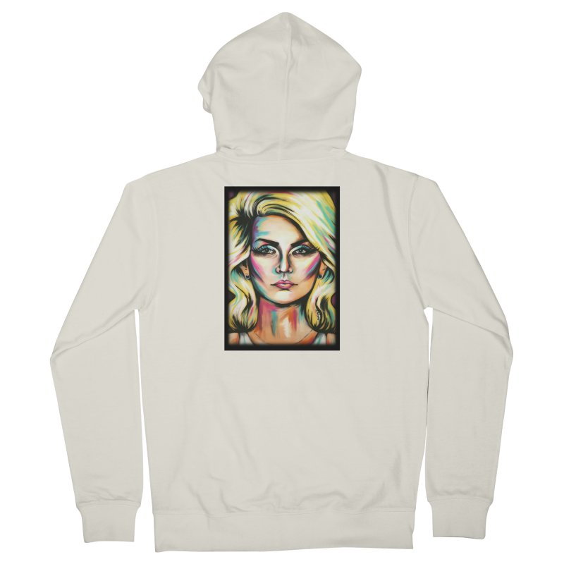 Blondie Women's French Terry Zip-Up Hoody by amybelonio's Artist Shop