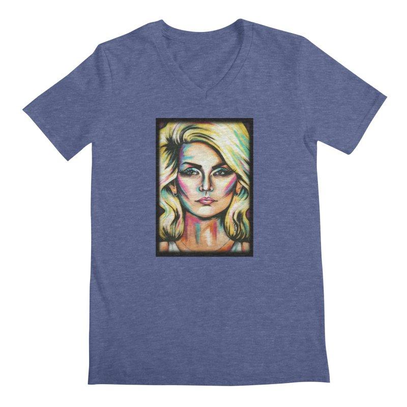 Blondie Men's Regular V-Neck by amybelonio's Artist Shop