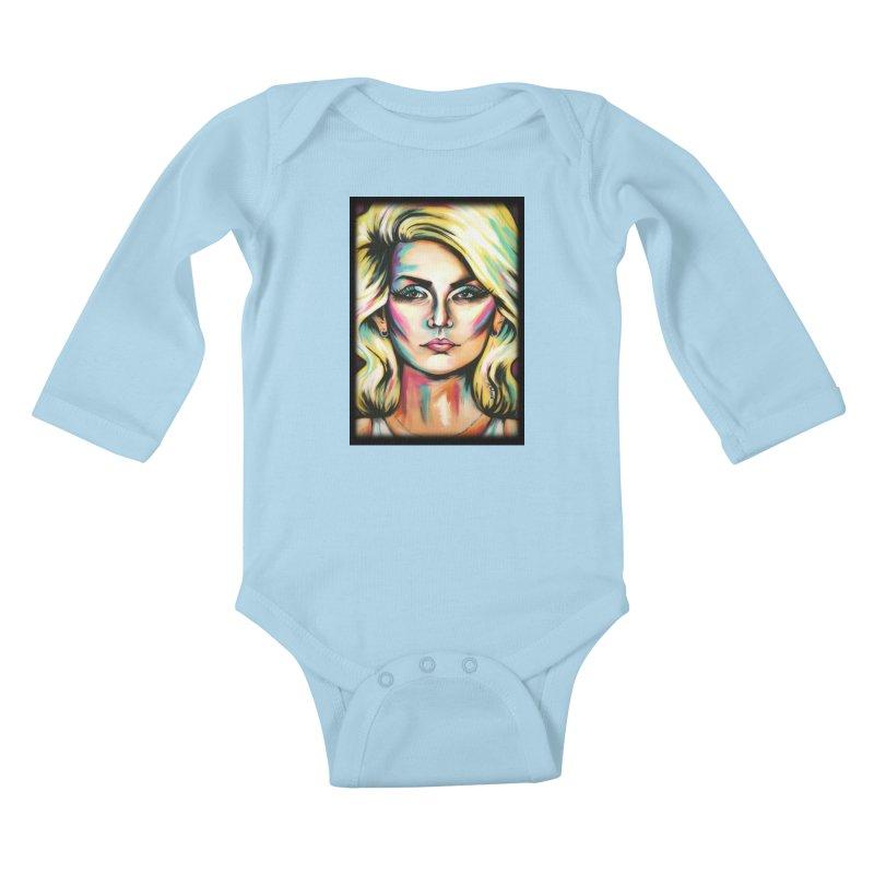 Blondie Kids Baby Longsleeve Bodysuit by amybelonio's Artist Shop
