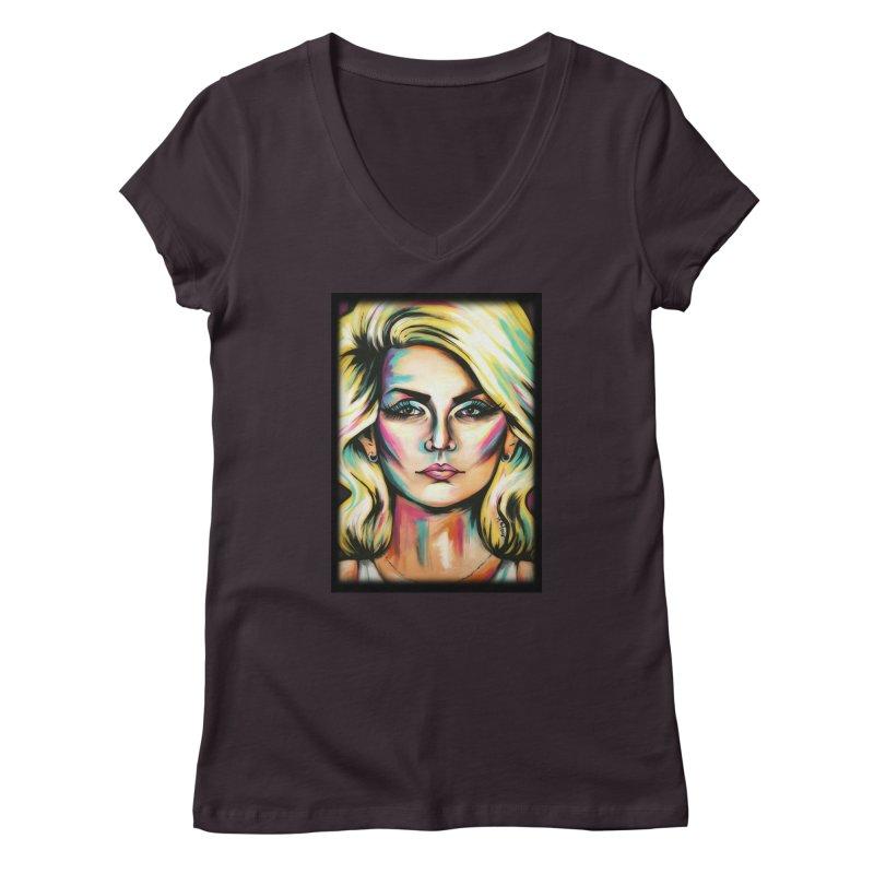 Blondie Women's Regular V-Neck by amybelonio's Artist Shop