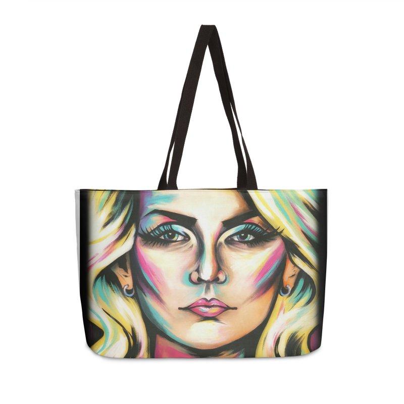 Blondie Accessories Weekender Bag Bag by amybelonio's Artist Shop