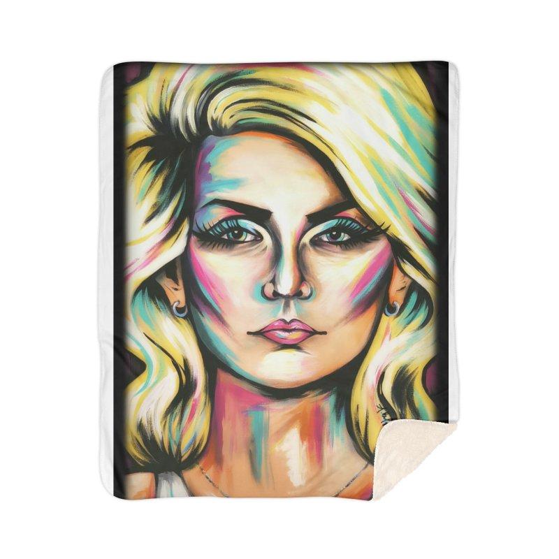 Blondie Home Sherpa Blanket Blanket by amybelonio's Artist Shop