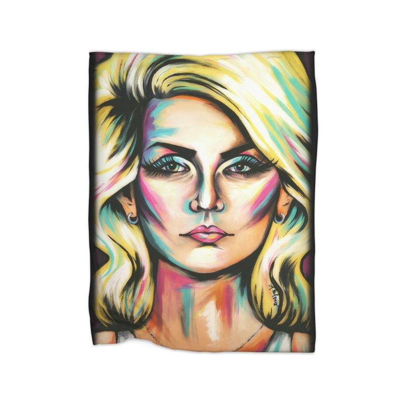 Blondie Home Fleece Blanket Blanket by amybelonio's Artist Shop