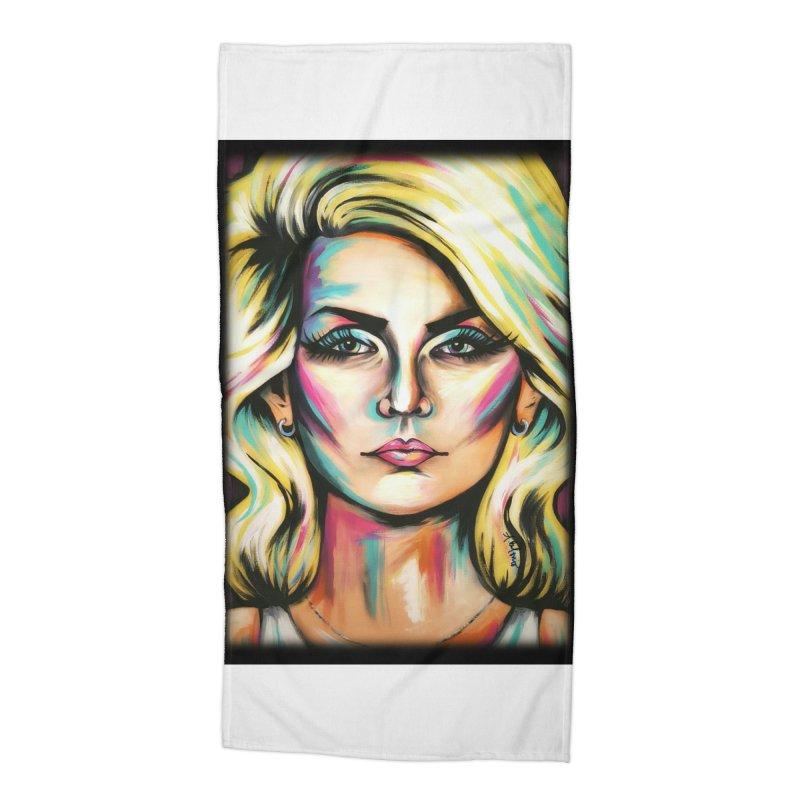 Blondie Accessories Beach Towel by amybelonio's Artist Shop