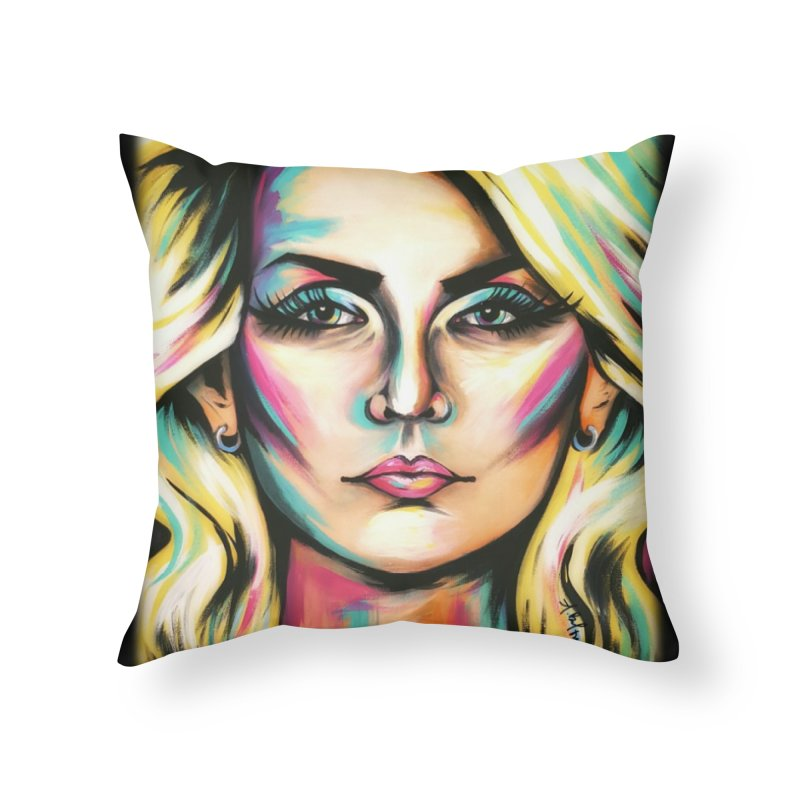 Blondie Home Throw Pillow by amybelonio's Artist Shop