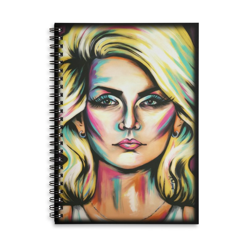 Blondie Accessories Lined Spiral Notebook by amybelonio's Artist Shop