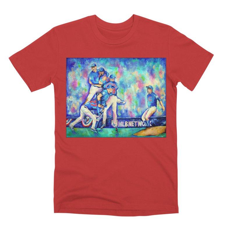 Go Cubs Go Men's Premium T-Shirt by amybelonio's Artist Shop