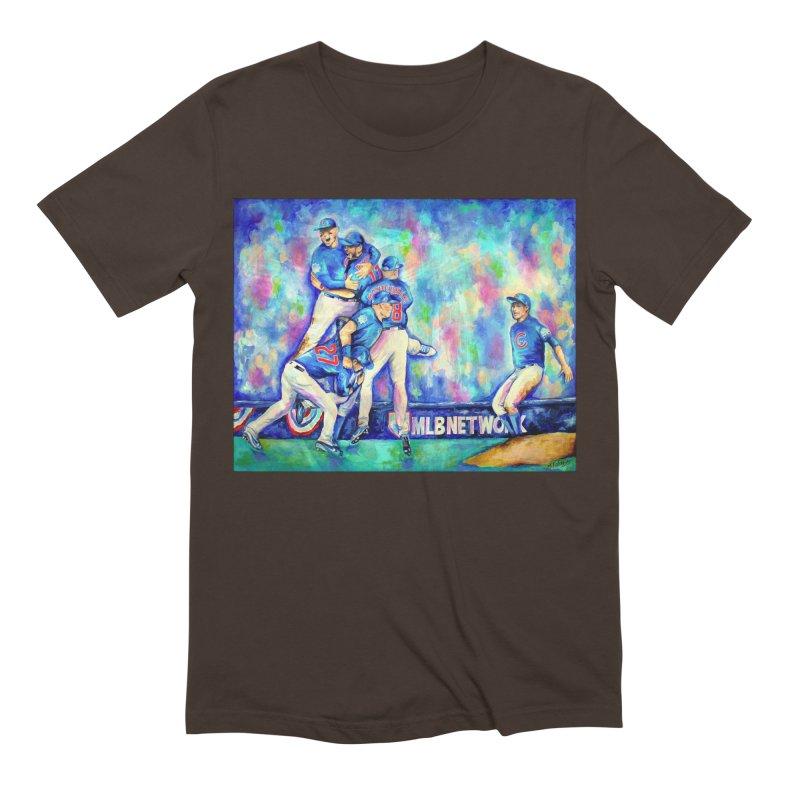 Go Cubs Go Men's Extra Soft T-Shirt by amybelonio's Artist Shop