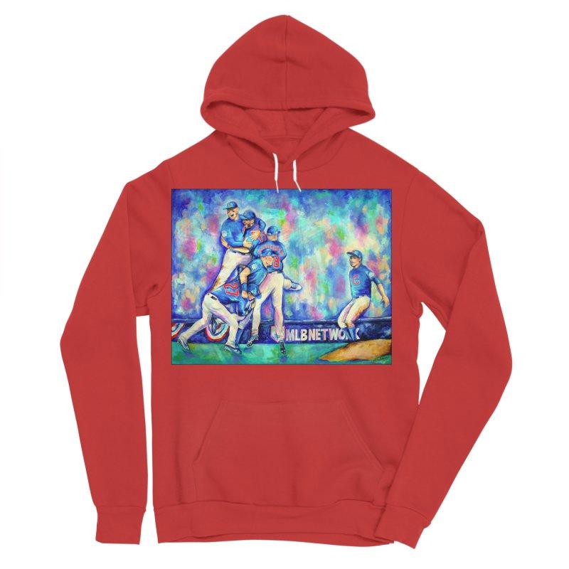 Go Cubs Go Men's Sponge Fleece Pullover Hoody by amybelonio's Artist Shop