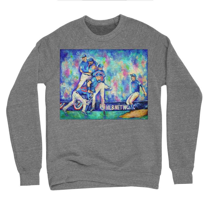 Go Cubs Go Men's Sponge Fleece Sweatshirt by amybelonio's Artist Shop