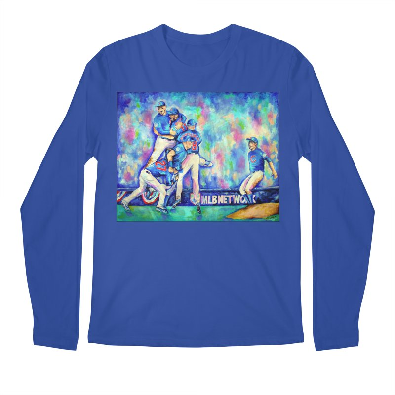Go Cubs Go Men's Regular Longsleeve T-Shirt by amybelonio's Artist Shop