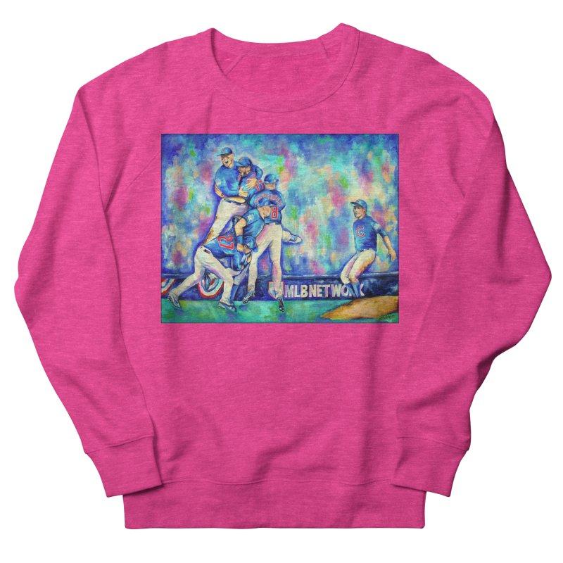 Go Cubs Go Women's French Terry Sweatshirt by amybelonio's Artist Shop