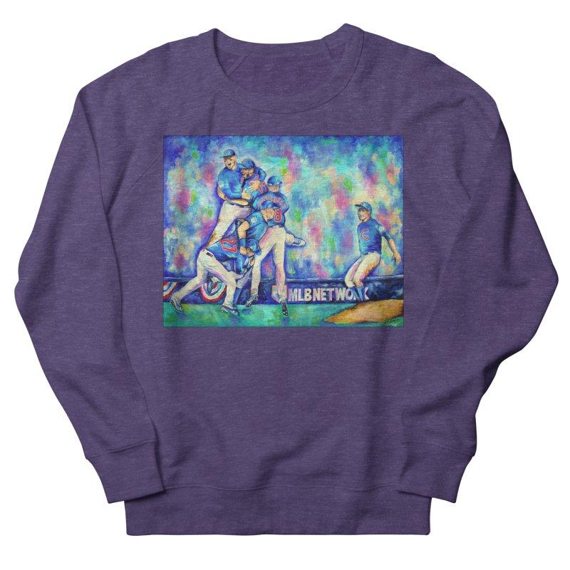 Go Cubs Go Men's French Terry Sweatshirt by amybelonio's Artist Shop