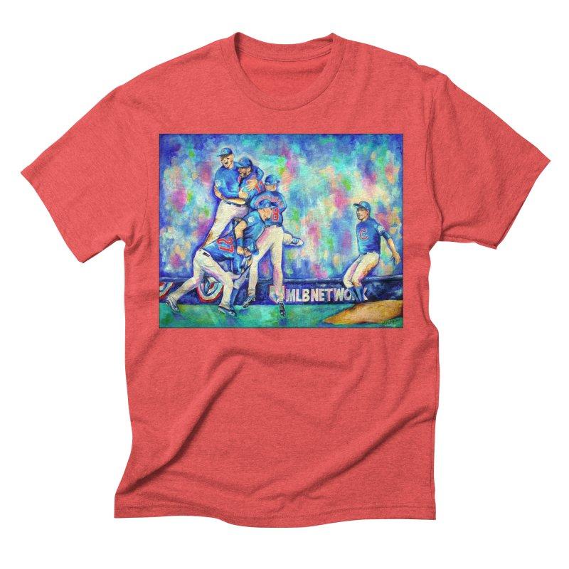 Go Cubs Go Men's Triblend T-Shirt by amybelonio's Artist Shop