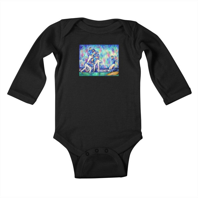 Go Cubs Go Kids Baby Longsleeve Bodysuit by amybelonio's Artist Shop