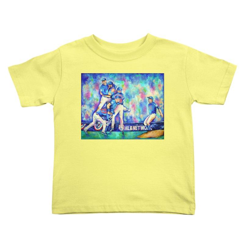 Go Cubs Go Kids Toddler T-Shirt by amybelonio's Artist Shop
