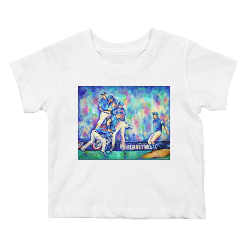 Go Cubs Go Kids Baby T-Shirt by amybelonio's Artist Shop