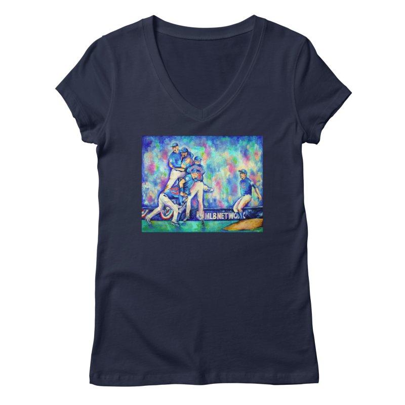 Go Cubs Go Women's V-Neck by amybelonio's Artist Shop