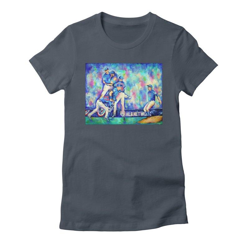 Go Cubs Go Women's T-Shirt by amybelonio's Artist Shop
