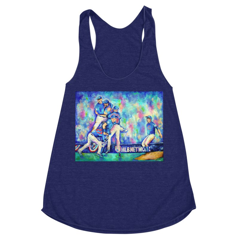 Go Cubs Go Women's Racerback Triblend Tank by amybelonio's Artist Shop
