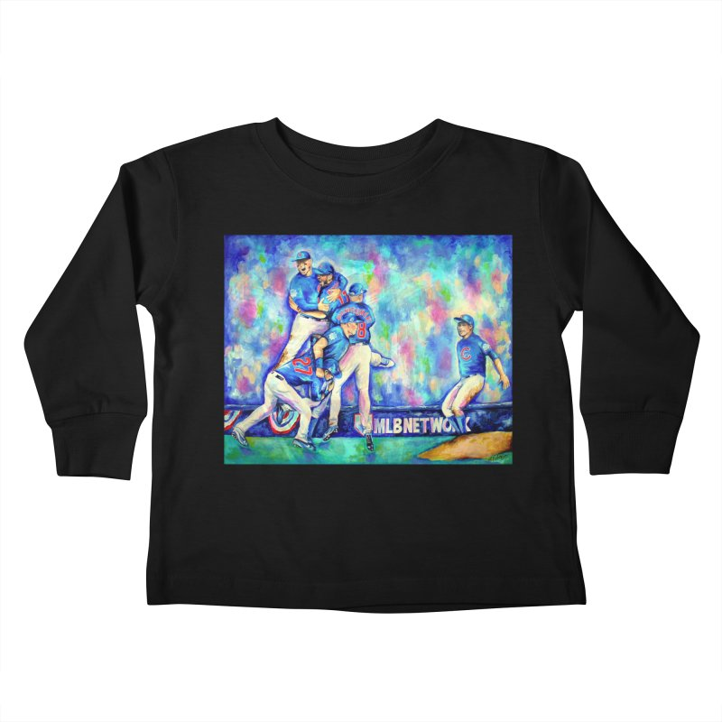 Go Cubs Go Kids Toddler Longsleeve T-Shirt by amybelonio's Artist Shop