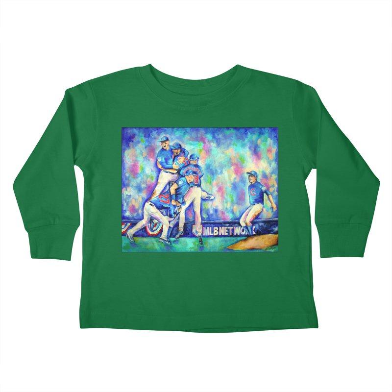 Go Cubs Go Kids Toddler Longsleeve T-Shirt by amybelonio's Artist Shop
