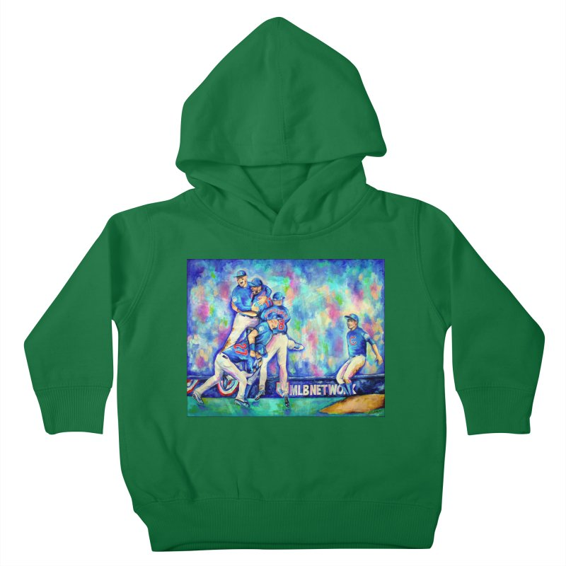 Go Cubs Go Kids Toddler Pullover Hoody by amybelonio's Artist Shop
