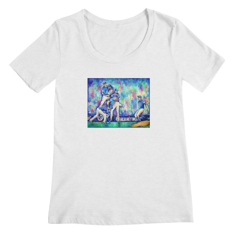 Go Cubs Go Women's Regular Scoop Neck by amybelonio's Artist Shop
