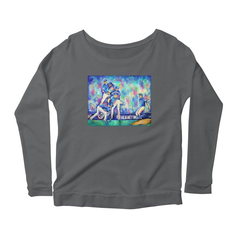 Go Cubs Go Women's Longsleeve T-Shirt by amybelonio's Artist Shop
