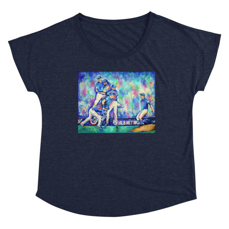 Go Cubs Go Women's Dolman Scoop Neck by amybelonio's Artist Shop