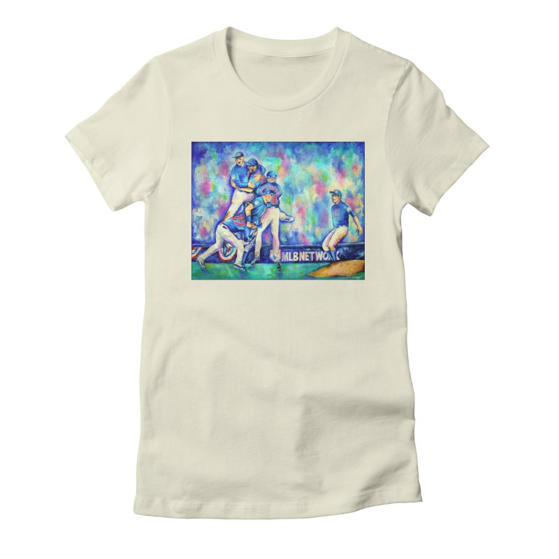 Go Cubs Go Women's Fitted T-Shirt by amybelonio's Artist Shop