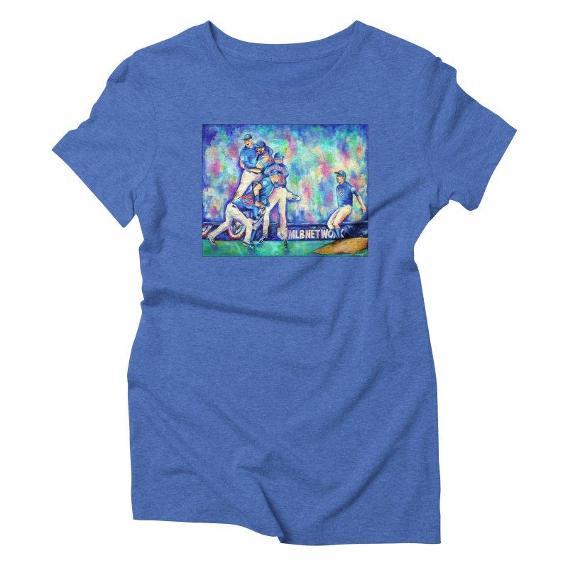 Go Cubs Go Women's Triblend T-Shirt by amybelonio's Artist Shop