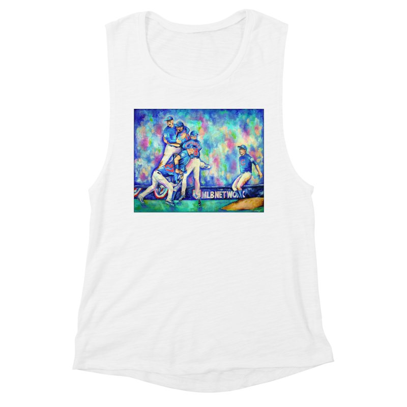 Go Cubs Go Women's Muscle Tank by amybelonio's Artist Shop