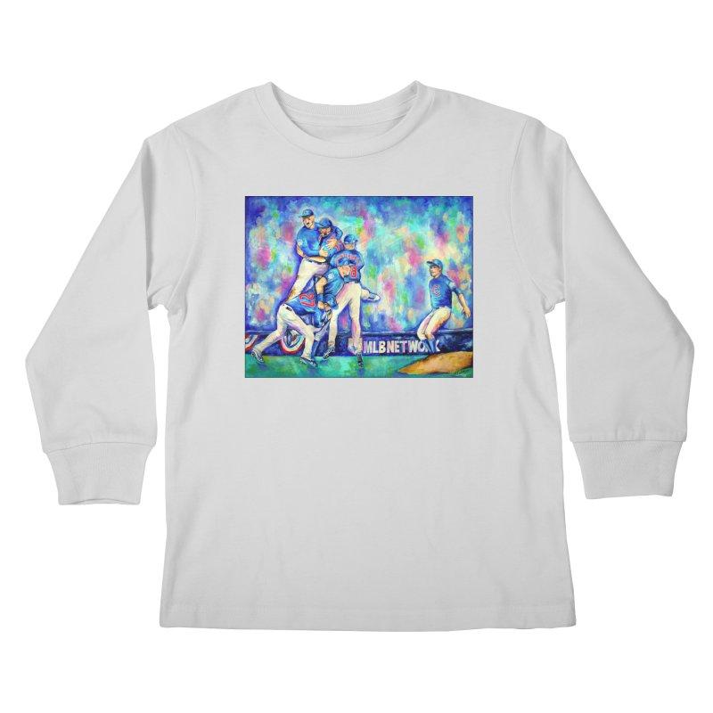 Go Cubs Go Kids Longsleeve T-Shirt by amybelonio's Artist Shop