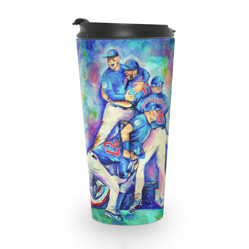 Go Cubs Go Accessories Travel Mug by amybelonio's Artist Shop