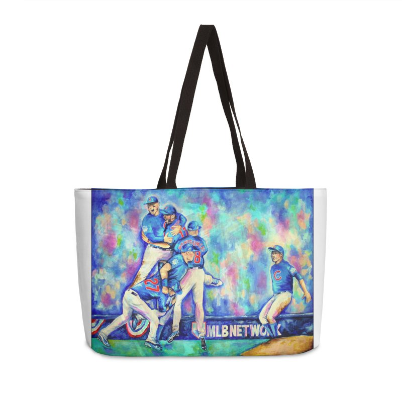 Go Cubs Go Accessories Weekender Bag Bag by amybelonio's Artist Shop