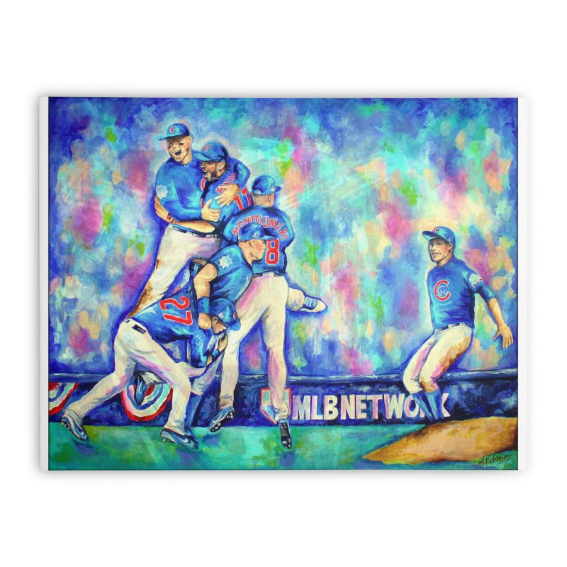 Go Cubs Go Home Stretched Canvas by amybelonio's Artist Shop