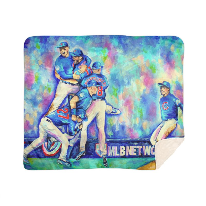 Go Cubs Go Home Sherpa Blanket Blanket by amybelonio's Artist Shop