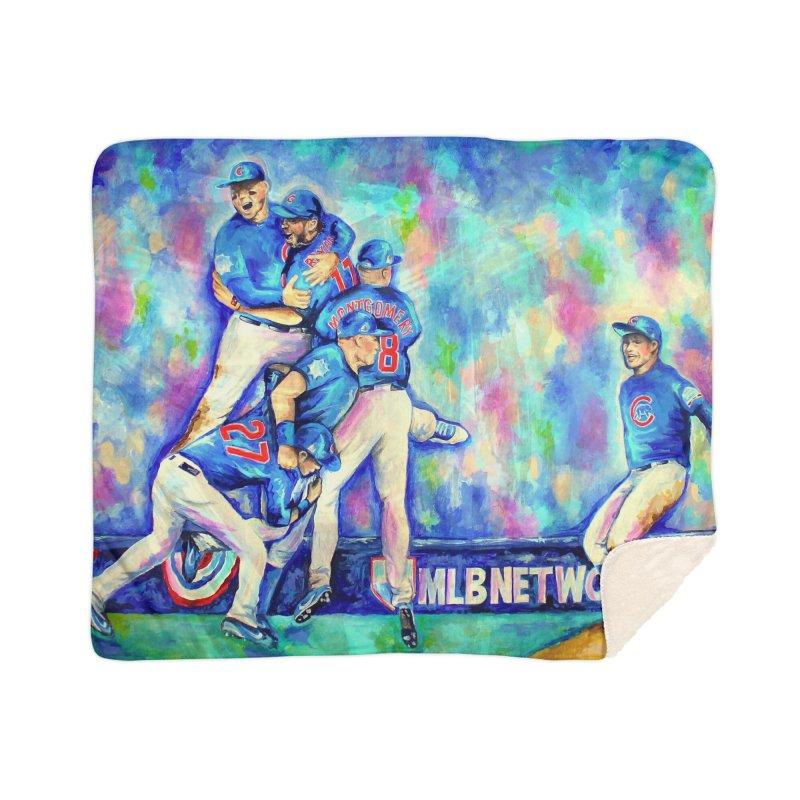 Go Cubs Go Home Sherpa Blanket Blanket by amybelonio's Artist Shop
