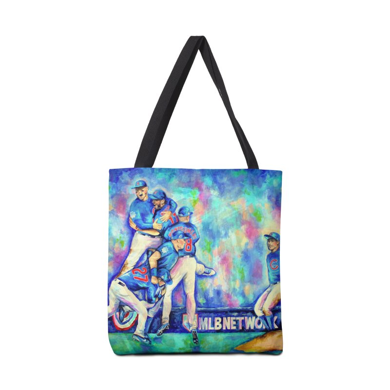 Go Cubs Go Accessories Tote Bag Bag by amybelonio's Artist Shop