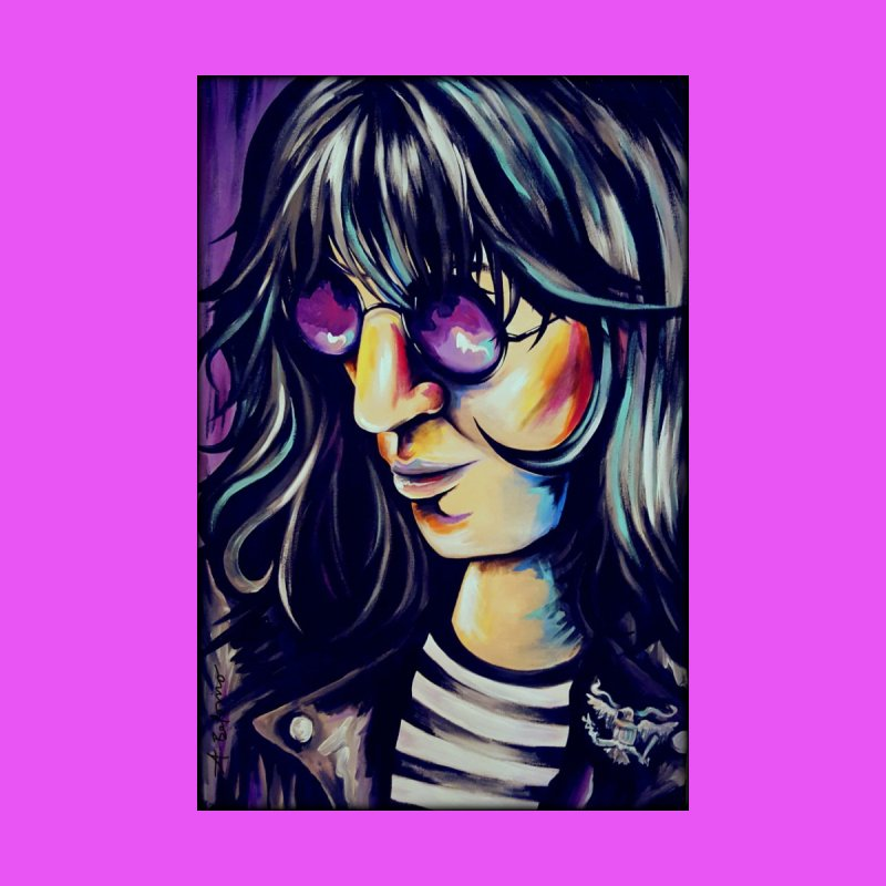 Joey Ramone Men's T-Shirt by amybelonio's Artist Shop