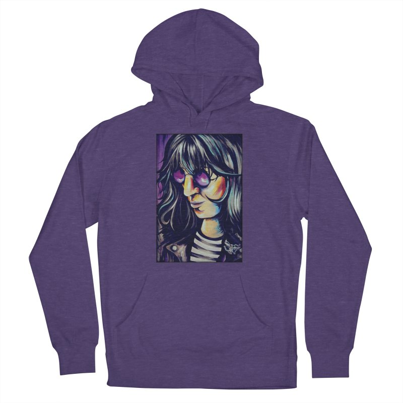 Joey Ramone Men's French Terry Pullover Hoody by amybelonio's Artist Shop