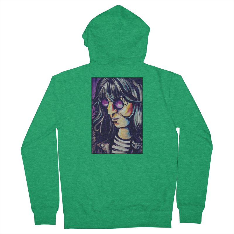 Joey Ramone Men's Zip-Up Hoody by amybelonio's Artist Shop