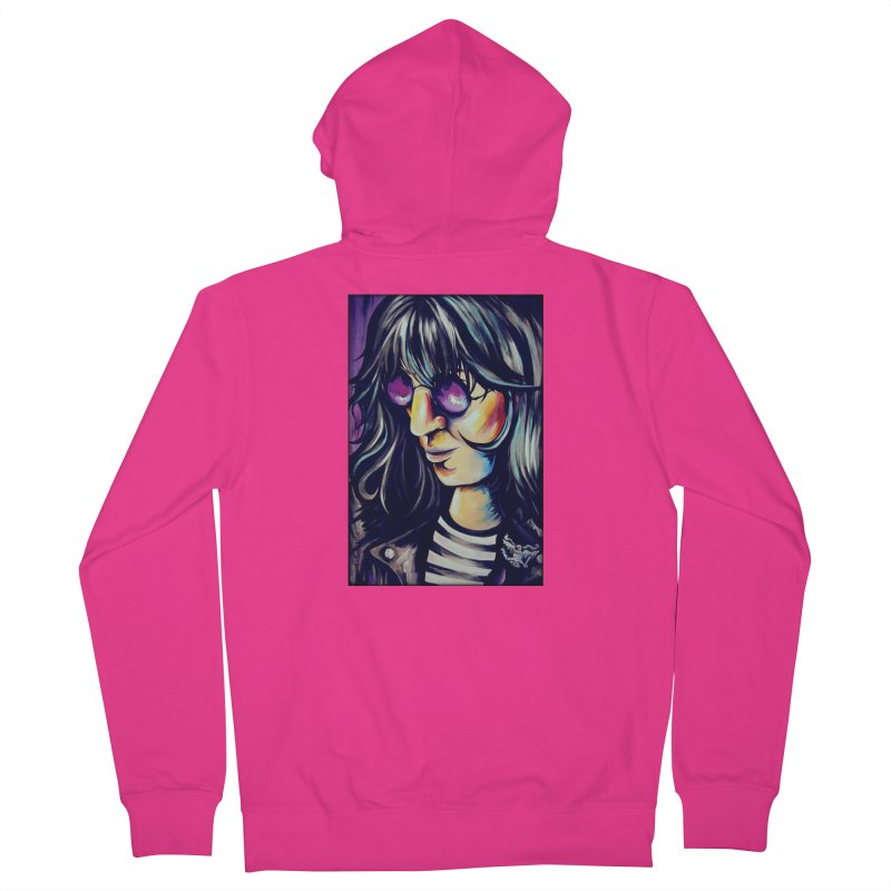Joey Ramone Men's French Terry Zip-Up Hoody by amybelonio's Artist Shop
