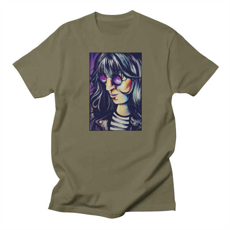 Joey Ramone Men's T-Shirt by amybelonio's Artist Shop