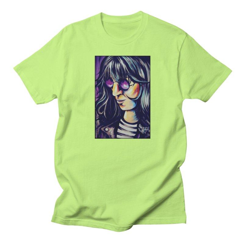 Joey Ramone Women's Regular Unisex T-Shirt by amybelonio's Artist Shop